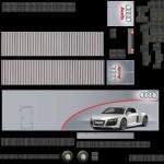 Textur Anhänger Team Audi